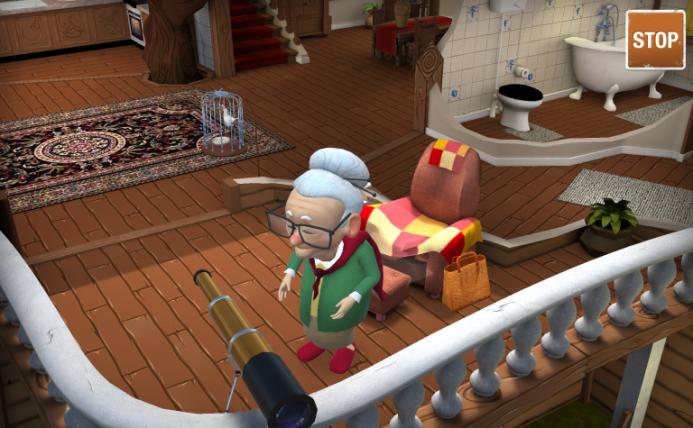 Schermafbeelding van de serious game Roodkapje