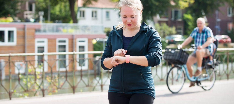 voorbeeld van e-health: Fitapp via de smartwatch