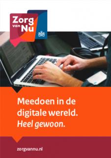 Omslag folder Meedoen in de digitale wereld.