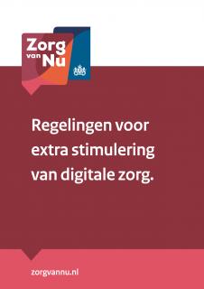 Omslag waaier Regelingen voor extra stimulering van digitale zorg.