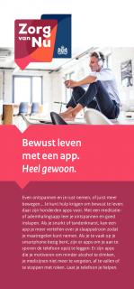 Omslag flyer Bewust leven met een app.