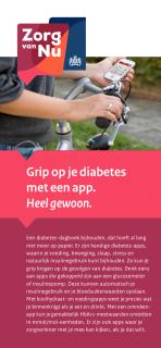 Omslag flyer Grip op je diabetes met een app.