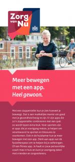 Omslag flyer Meer bewegen met een app.