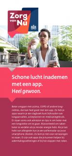 Omslag flyer Schone lucht inademen met een app.