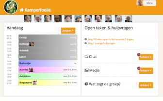 Screenshot van ShareCare huiskamer