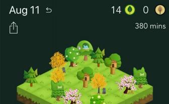 screenshot van Forest app