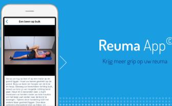 screenshot van de Reuma App