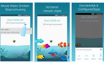 voorbeeld water drinken herinnering app