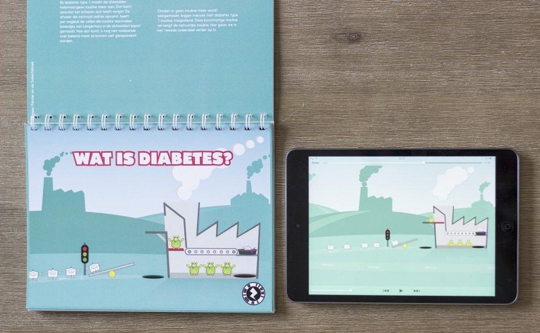 combinatie boekje met app voor kind met diabetes