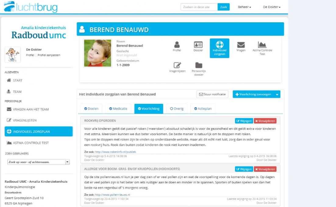 Online platform Berend benauwd voor kinderen met astma