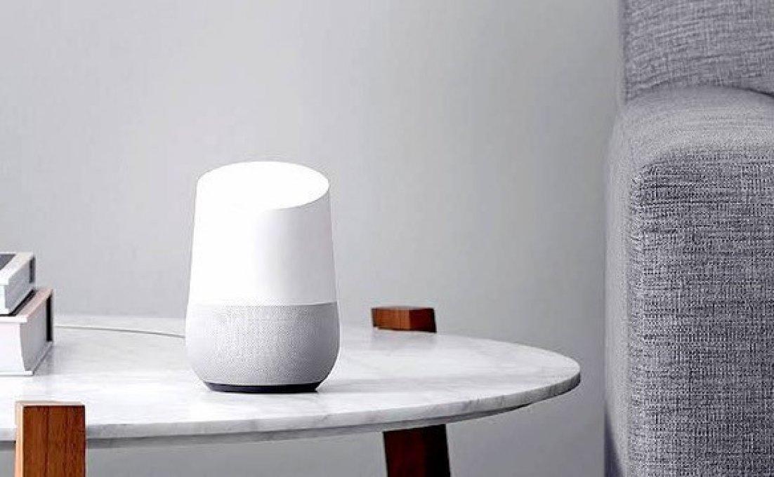 Google Home speaker te gebruiken als spraakassistent.