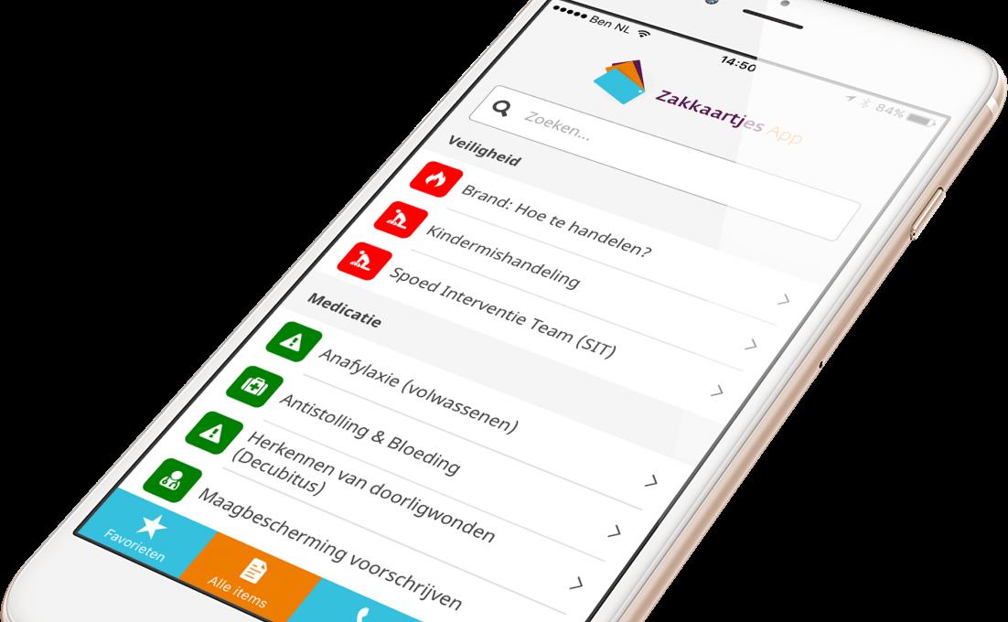 smartphone met zakkaartjes app